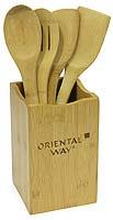 Набор кухонных принадлежностей Oriental way, в подставке, 5 предметов. NL18193 цена