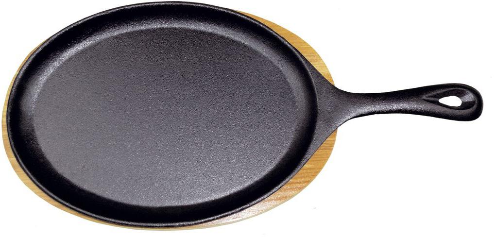 """Сковорода порционная Gipfel """"Diletto"""", чугунная, с подставкой, 24 x 17,5 х 2 см"""