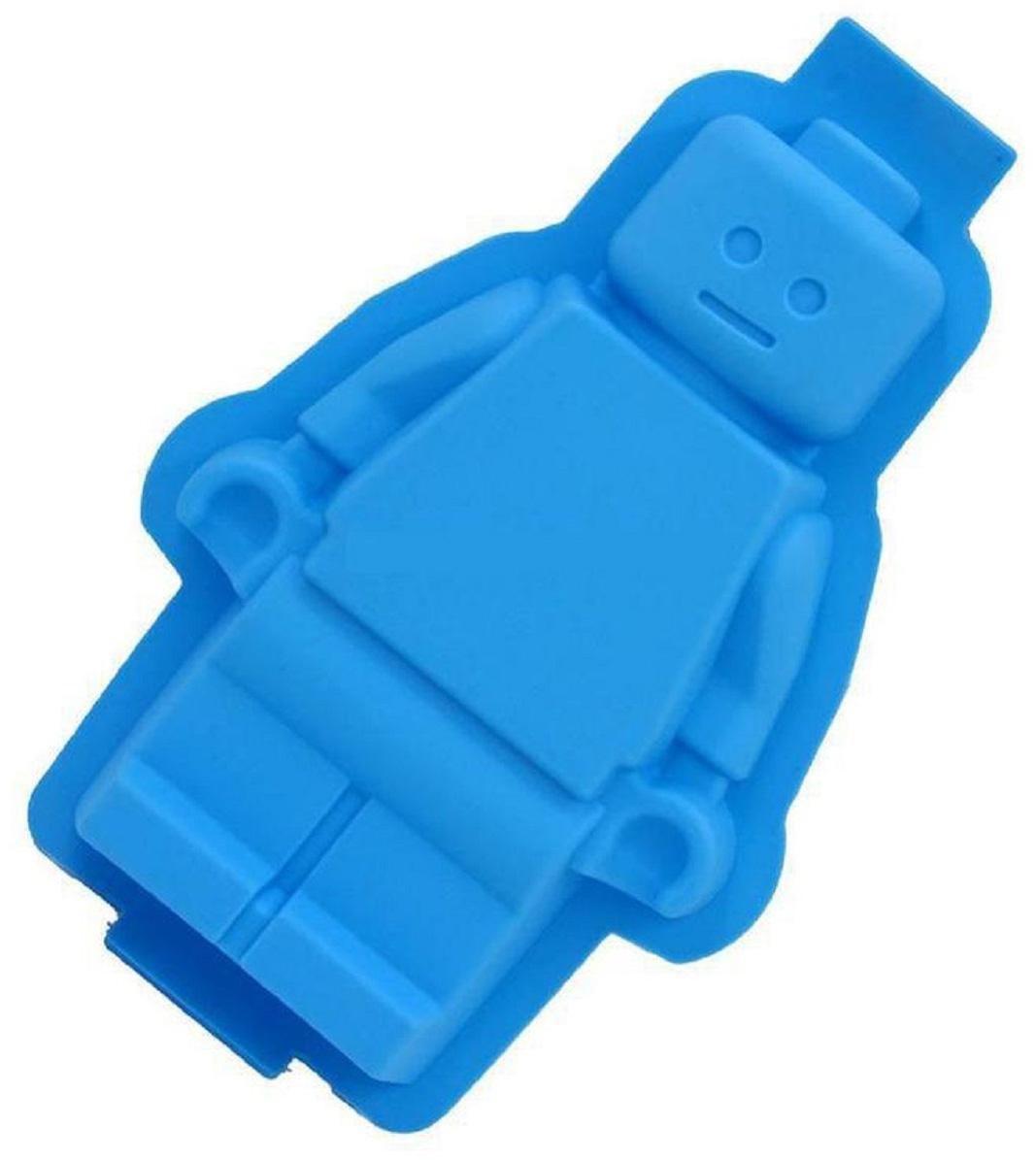 Форма для выпечки Fidget Go Lego, для приготовления кексов, пирожных, желе, выпечки и запекания, голубой формочки для кекса fidget go сердце 6 шт
