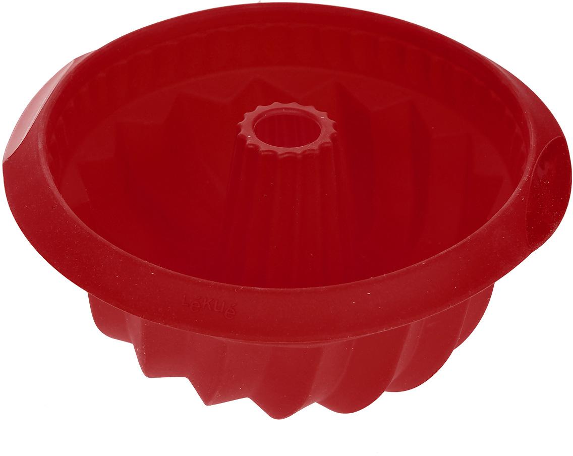 Форма для выпечки Lekue Саварин, цвет: красный. Диаметр 22 см формы для выпечки lekue шоко фондю