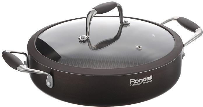 """Сотейник Rondell """"Mocco&Latte"""" с крышкой, с антипригарным покрытием. Диаметр 26 см"""