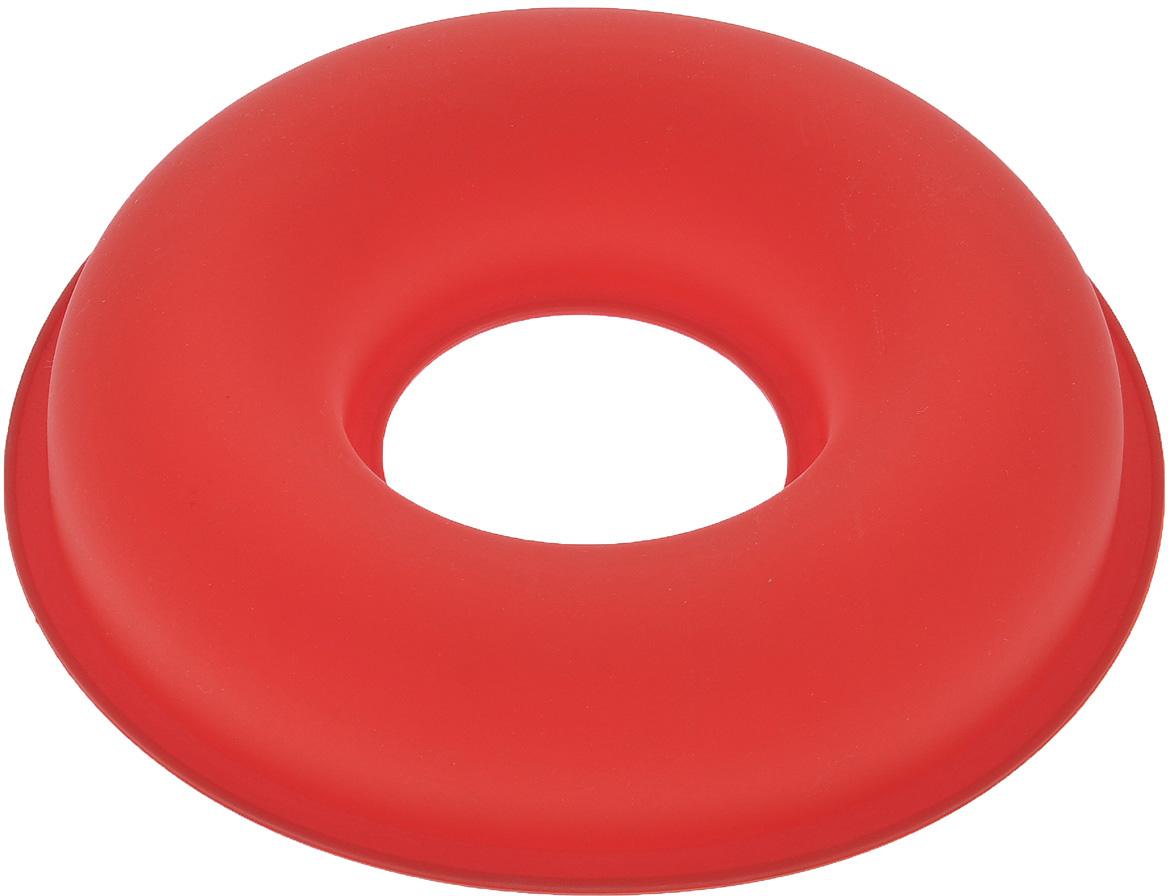 """Форма для выпечки Bekker """"Круг"""", силиконовая, цвет: красный, диаметр 26,5 см"""