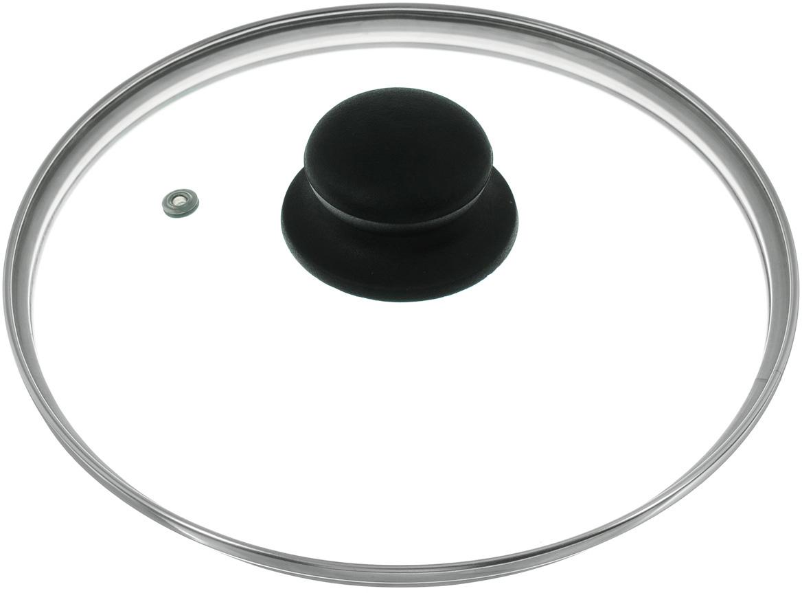 Крышка стеклянная. Диаметр 20 см4620нКрышка изготовлена из термостойкого стекла. Обод, выполненный из высококачественной нержавеющей стали, защищает крышку от повреждений, а ручка, выполненная из термостойкого пластика, защищает ваши руки от высоких температур. Изделие оснащено пароотводом. Крышка удобна в использовании и позволяет контролировать процесс приготовления пищи без потери тепла. Можно мыть в посудомоечной машине. Рекомендуем!