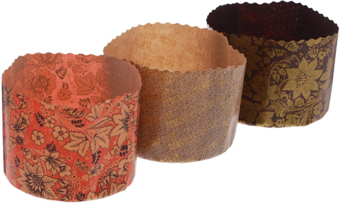 Набор форм для выпечки куличей Marmiton Пасхальный, 1 л, 3 шт, цвет в ассортименте набор форм для выпечки печенья marmiton цветочки 16181