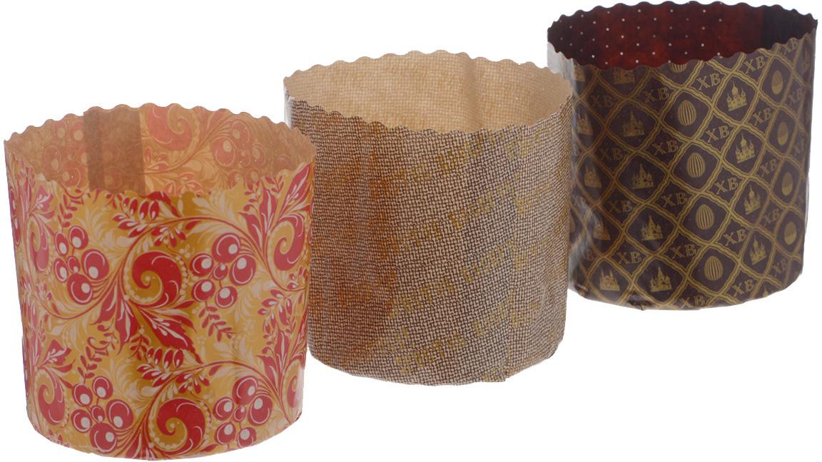 Набор форм для выпечки куличей Marmiton Пасхальный, 0,5 л, 3 шт набор форм для заливного home queen с крышками 3 шт