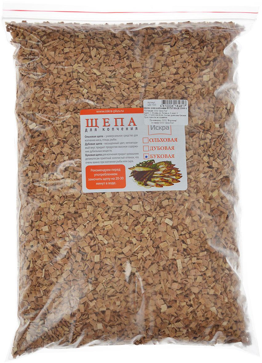 Щепа для копчения Искра Буковая, 1 кг буковая щепа jbl натуральный донный субстрат terrawood для сухих и полусухих террариумов 20л