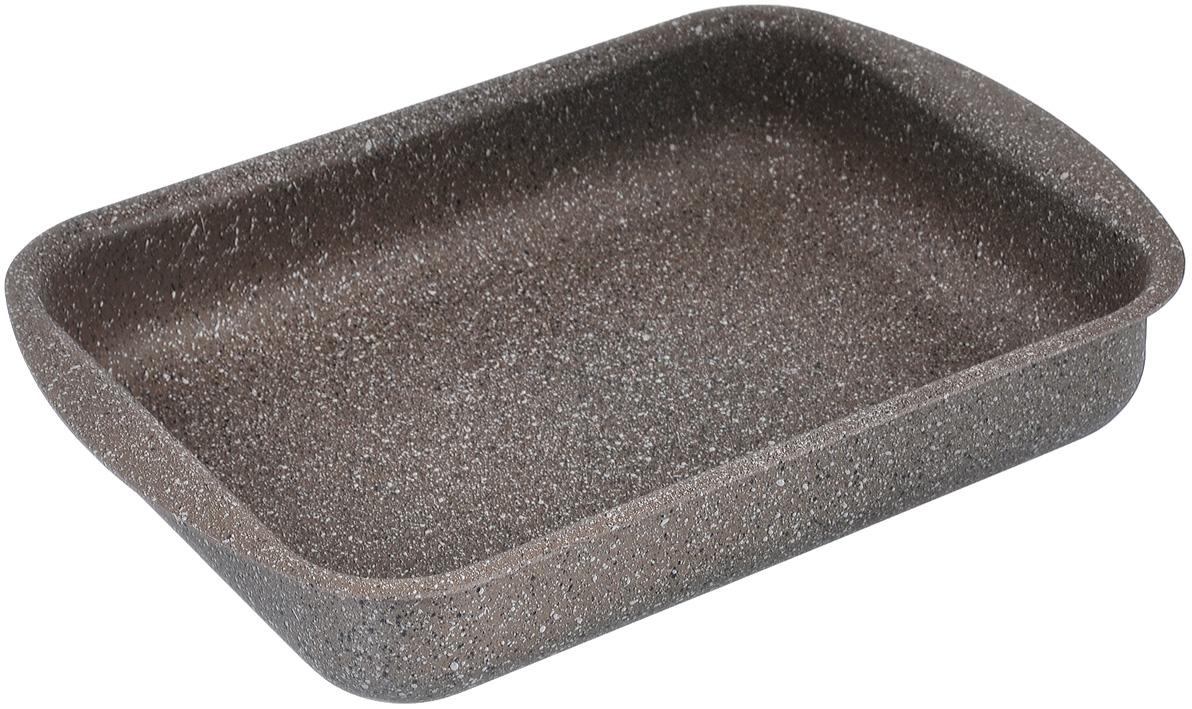 Противень TimA Art Granit, с антипригарным покрытием, прямоугольный, 31 см х 23 см х 6 смAT-3123Прямоугольный противень TimA Art Granit изготовлен из алюминия с антипригарным покрытием. Пятислойное сверхпрочное антипригарное покрытие нового поколения серии Art Granit состоит из нескольких слоев каменной крошки с высоким содержанием минералов. Это обеспечивает максимальный антипригарный эффект для приготовления блюд любой сложности и устойчивость к царапинам и истиранию. Возможно использование металлических столовых приборов. Утолщенное дно способствует равномерному распределению и сохранению тепла, что позволяет доводить блюдо до готовности без источника тепла. Посуда не боится перегрева, не выделяет опасных компонентов даже при высоких температурах. Покрытие абсолютно экологично, не содержит PFOA, примесей кадмия и свинца. Легко моется. Подходит для духового шкафа. Можно мыть в посудомоечной машине. Внутренний размер противня: 31 см х 23 см. Размер противня (с учетом ручек): 36 см х 25 см. Высота стенки: 6 см.