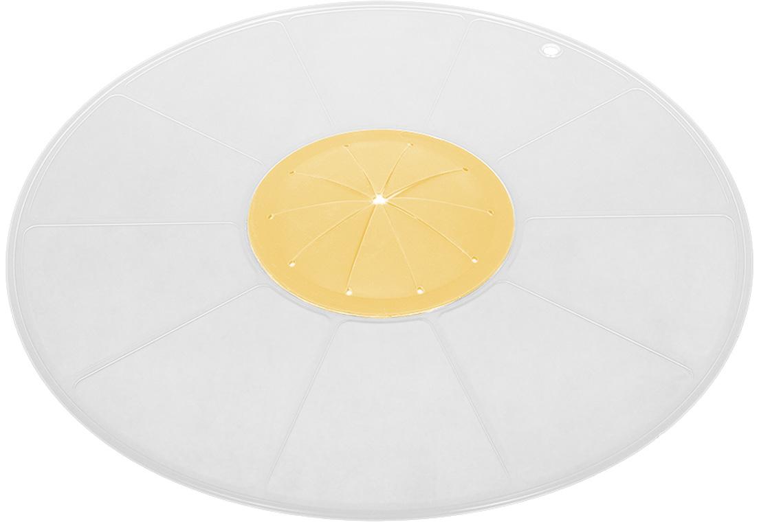 Крышка Marmiton Защита от брызг, цвет: желтый, диаметр 30 см сетка защита от брызг 25см bekker сетка защита от брызг 25см