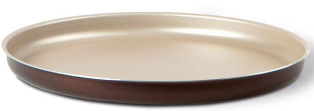 """Форма для пиццы TVS """"Dolci Idee"""", с антипригарным покрытием, цвет: золотистый, шоколадный, диаметр 28 см"""