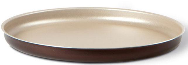 """Форма для пиццы TVS """"Dolci Idee"""", с антипригарным покрытием, цвет: золотистый, шоколадный, диаметр 32 см"""