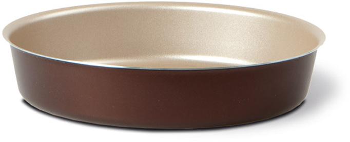 """Форма для торта TVS """"Dolci Idee"""", с антипригарным покрытием, цвет: золотистый, шоколадный, диаметр 26 см"""