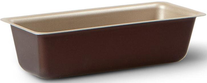 """Форма для пирога TVS """"Dolci Idee"""", с антипригарным покрытием, цвет: золотистый, шоколадный, 27 см х 10 см"""