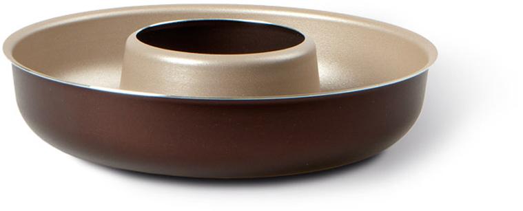 """Форма для кекса TVS """"Dolci Idee"""", с антипригарным покрытием, цвет: золотистый, шоколадный, диаметр 24 см"""