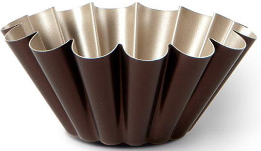 """Форма для пудинга TVS """"Dolci Idee"""", с антипригарным покрытием, цвет: золотистый, шоколадный, диаметр 22 см"""