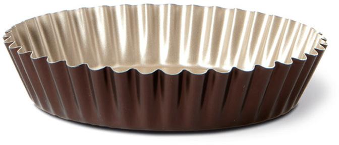 """Форма для торта TVS """"Dolci Idee"""" рифленая, с антипригарным покрытием, цвет: золотистый, шоколадный, диаметр 26 см"""