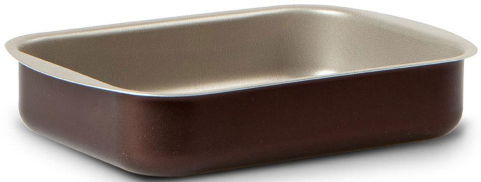 """Форма для пирога TVS """"Dolci Idee"""", с антипригарным покрытием, цвет: золотистый, шоколадный, 25 х 18 см"""