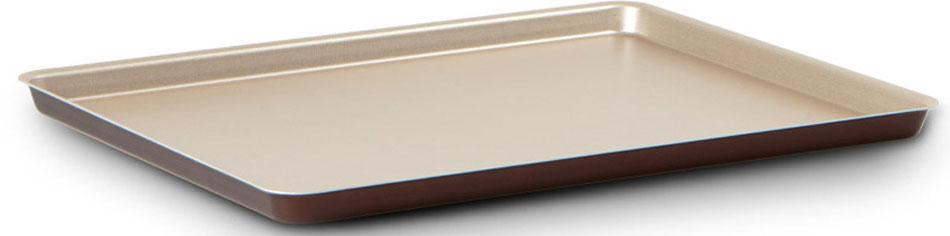 """Противень для пиццы TVS """"Dolci Idee"""", с антипригарным покрытием, цвет: золотистый, шоколадный, 38 см х 28 см"""