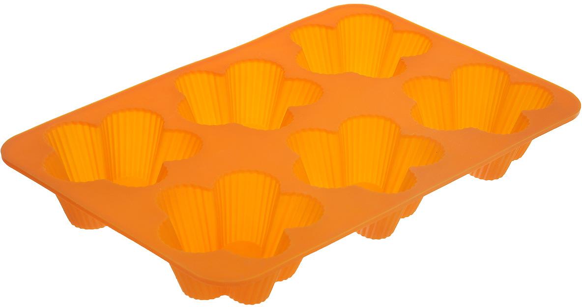 Форма для выпечки Marmiton Цветочки, 6 ячеек, цвет в ассортименте16112Форма Marmiton Цветочки, изготовленная из высококачественного пищевого силикона, предназначена для приготовления выпечки, льда, конфет, желе, запеканок, шоколада, пудингов. На одном листе расположено 6 ячеек, выполненных в виде цветов. С такой формой вы всегда сможете порадовать своих близких оригинальной выпечкой. Силикон устойчив к фруктовым кислотам, к воздействию низких и высоких температур (выдерживает температуру от 240°C до - 40°C). Не взаимодействует с продуктами питания и не впитывает их запахи, как при нагревании, так и при заморозке. Обладает естественными антипригарными свойствами. Неприлипающая поверхность идеальна для духовки, морозильника, микроволновой печи и аэрогриля. Из формы легко и быстро можно достать выпечку. Силиконовая форма также практична при хранении за счет гибкости, ее можно смело мыть в посудомоечной машине. Общий размер формы: 25,5 см х 17,5 см х 3 см.Размер ячейки: 7,5 см х 7,5 см х 3 см.