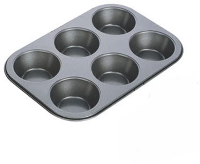 Форма для выпечки Tescoma Delicia, цвет: черный, 6 ячеек. 623220 форма для выпечки tescoma для 12 мини кексов delicia 26 x 20 cm 623224