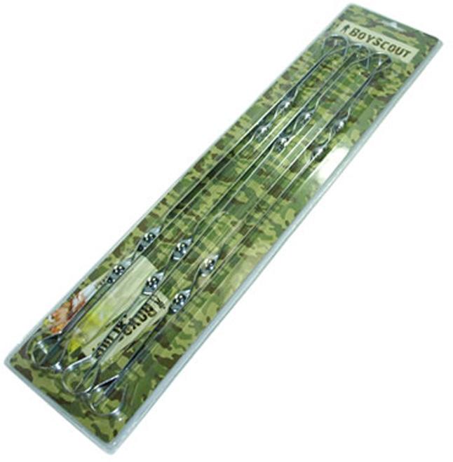 Набор плоских шампуров Boyscout, 60 см, 6 шт набор угловых шампуров искра 50 см 6 шт