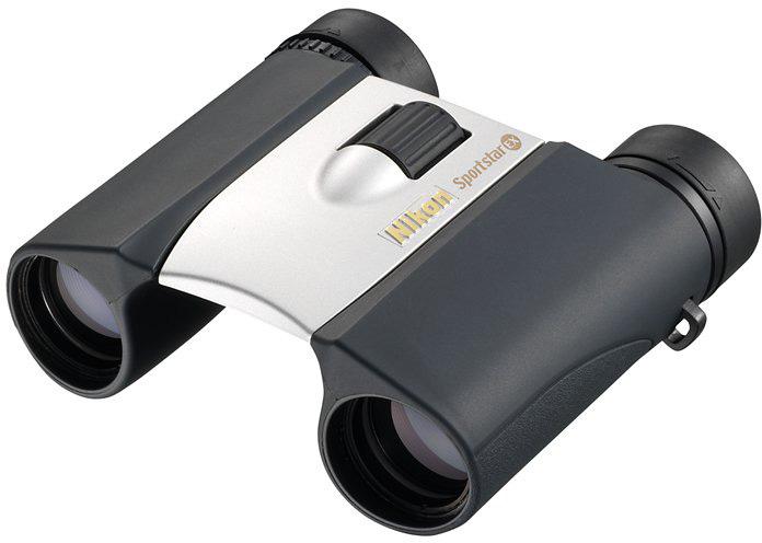 купить Бинокль Nikon Sportstar EX 8x25, цвет: серебристый по цене 6190 рублей