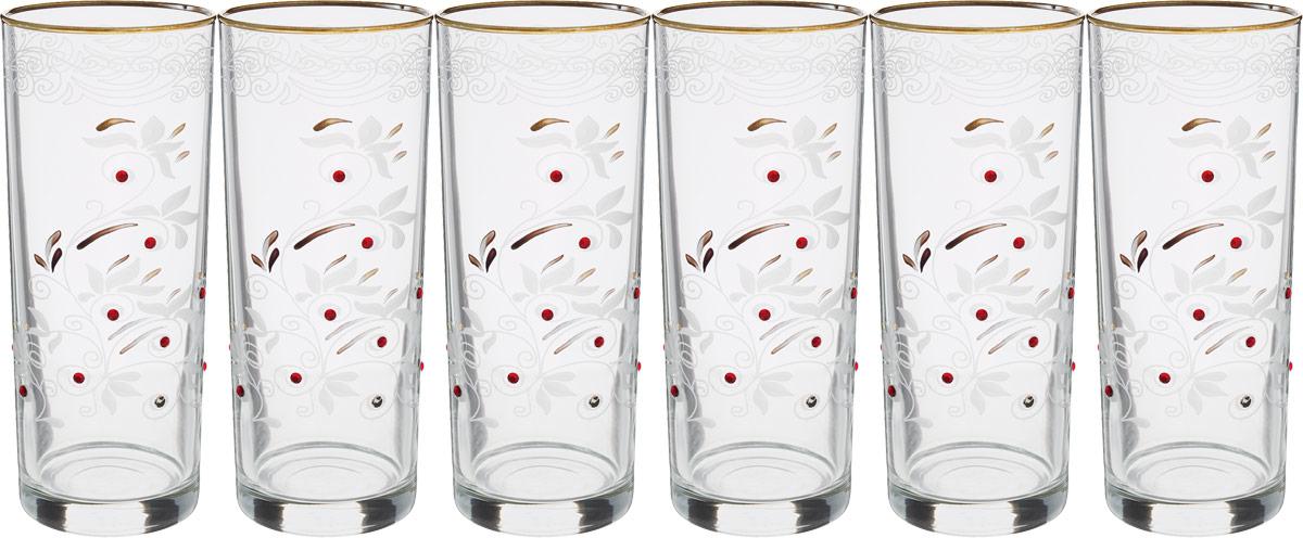 Набор стаканов для сока Гусь-Хрустальный Акация, 350 мл, 6 шт набор стаканов гусь хрустальный веточка 350 мл 6 шт