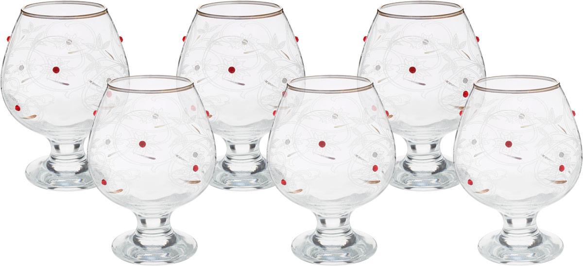 Набор бокалов для бренди Гусь-Хрустальный Акация, 400 мл, 6 шт набор бокалов гусь хрустальный золотой карат