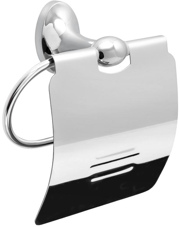 """Держатель для туалетной бумаги Verran """"Olive"""", закрытый, цвет: серебристый"""