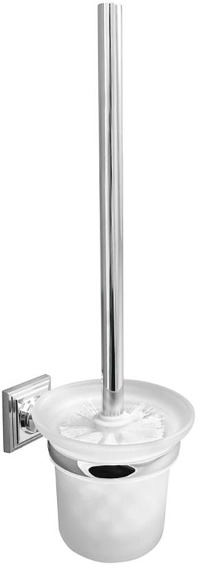 Ершик для унитаза Verran Pillar, настенный, с подставкой, цвет: серебристый ершик для унитаза del mare 1500 с подставкой настенный цвет хром