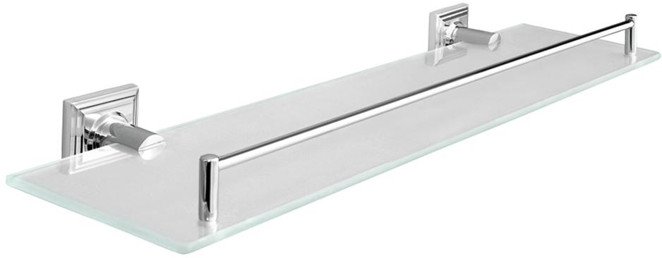 "Полка для ванной комнаты Verran ""Pillar"", настенная, прямоугольная, цвет: серебристый, 52 х 6 х 16,5 см"