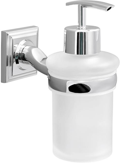 """Диспенсер для жидкого мыла Verran """"Pillar"""", настенный, цвет: серебристый, 160 мл"""