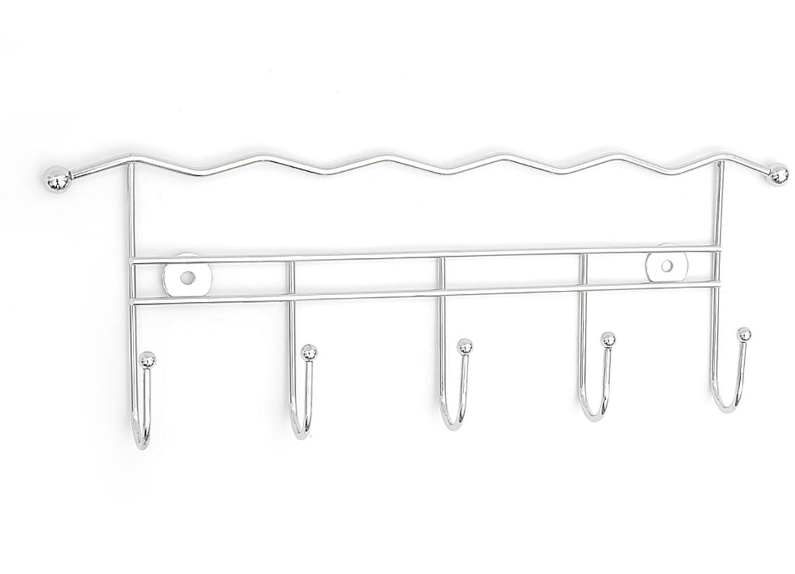 Фото - Планка для ванной Verran, с 5 крючками, цвет: серебристый планка с 2 крючками мультидом цвет в ассортименте