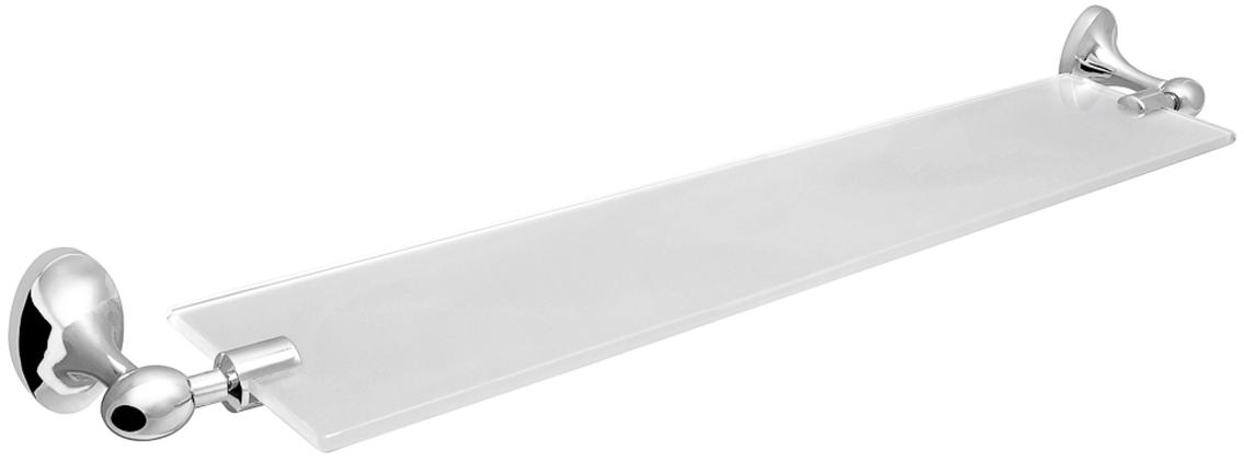 "Полка для ванной комнаты Verran ""Olive"", настенная, прямоугольная, цвет: серебристый, 59,5, 5,5 х 11 см"