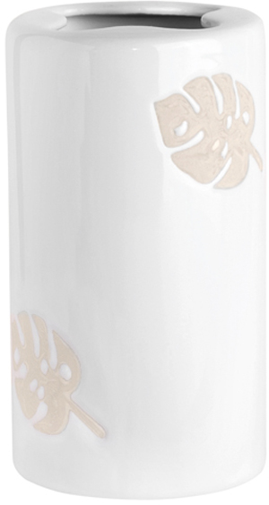 Стакан для зубных щеток Verran Lopo, с разделителем, цвет: белый мыльница verran lopo цвет белый