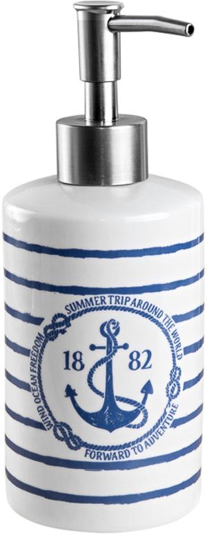 Диспенсер для жидкого мыла Verran Adventure, цвет: белый, 380 мл диспенсер bemeta 550 мл 104109032