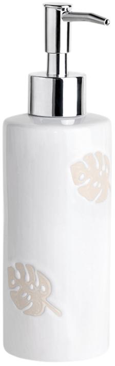 Диспенсер для жидкого мыла Verran Lopo, цвет: белый, 300 мл мыльница verran lopo цвет белый