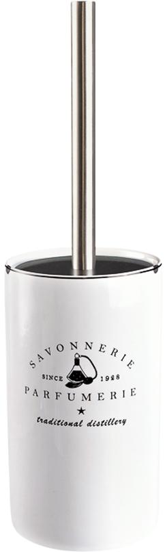 Ершик для унитаза Verran Parfumer, с подставкой, цвет: белый ершик для туалета wess elegance с подставкой цвет белый g79 40
