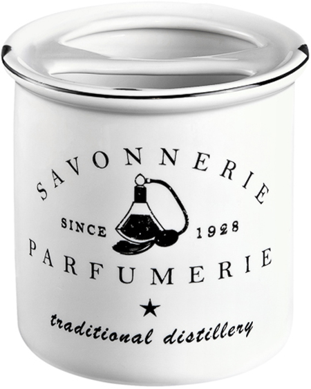 Стакан для зубных щеток Verran Parfumer, с разделителем, цвет: белый стакан д зубных щеток verran lavender