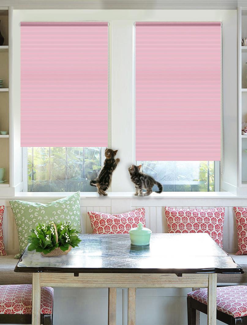 """Штора рулонная Эскар """"Райли"""", цвет: розовый, ширина 37 см, высота 160 см"""