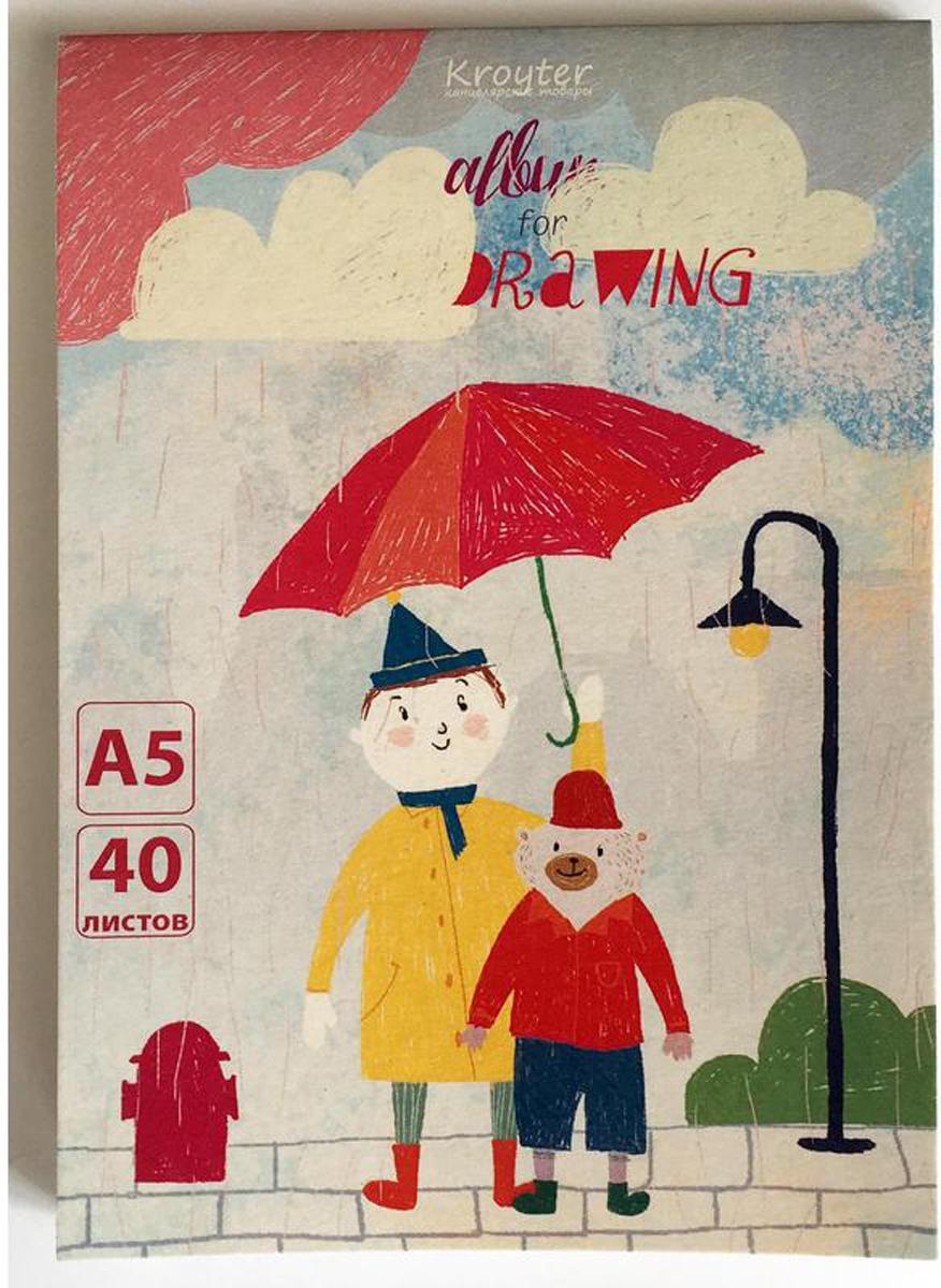 Kroyter Альбом для рисования Друзья А5 40 листов недорого