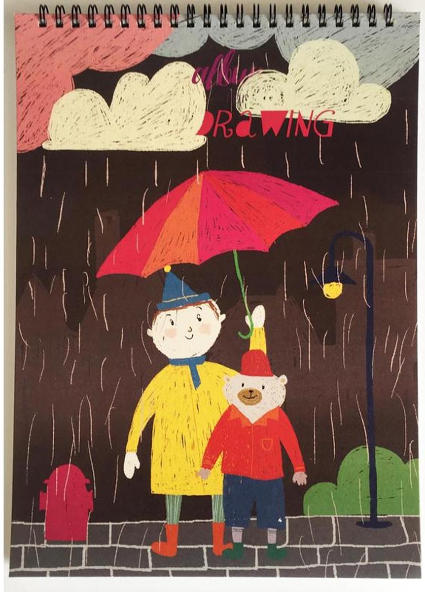 Kroyter Альбом для рисования Друзья А4 40 листов недорого