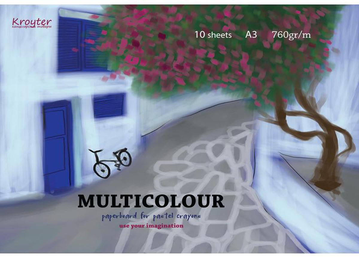 Kroyter Альбом для рисования пастелью Multicolour А3 10 листов kroyter альбом для рисования пастелью цвет терракотовый 10 листов