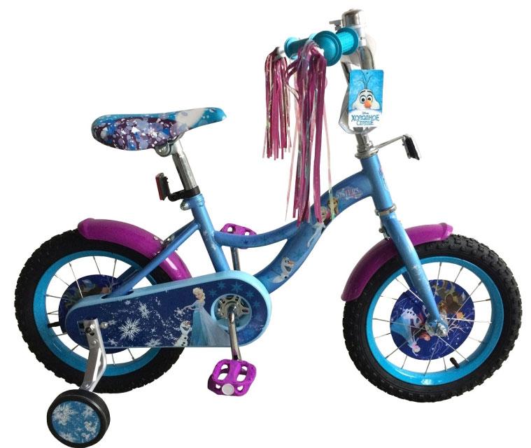 Велосипед детский Disney Холодное сердце, цвет: голубой, колесо 12