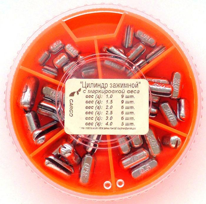 Грузила Цилиндр, зажимной, 6 секций. 8539-089