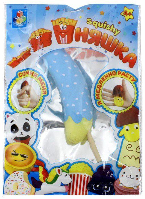 1TOY Игрушка-антистресс Мммняшка Банан в карамели цвет голубой