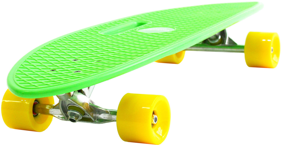 Пенни борд Hubster Cruiser, цвет: зеленый, желтый, дека 36 пенни борд hubster cruiser цвет фиолетовый зеленый дека 36