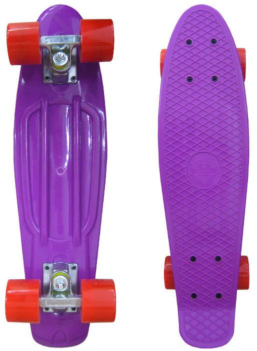 """Пенни борд """"Ecobalance"""", цвет: фиолетовый, красный, дека 22"""""""
