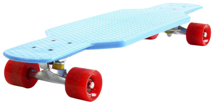 Пенни борд Hubster Cruiser, цвет: синий, красный, дека 29 пенни борд hubster cruiser цвет фиолетовый зеленый дека 36