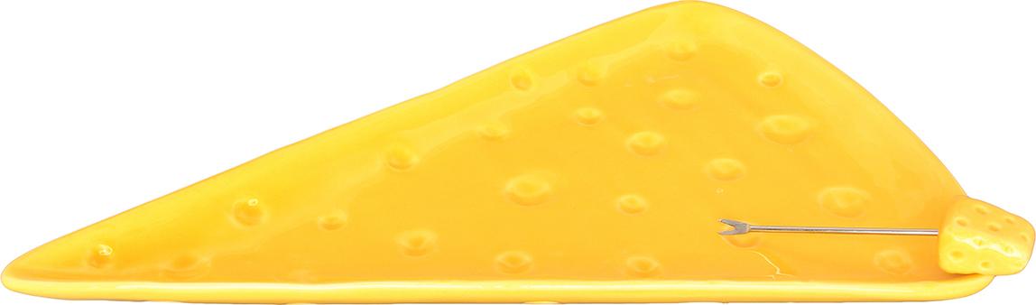 Тарелка для сыра Elan Gallery, со шпажкой, 28 х 18 см110722Тарелка для сыра в комплекте со шпажкой Elan Gallery - отличное решение для сервировки холодных закусок. Изготовленная из высококачественной керамики, она сочетает в себе изысканный дизайн с максимальной функциональностью. Красочность оформления придется по вкусу тем, кто предпочитает утонченность. Не использовать в микроволновой печи. Длина шпажки: 8,5 см.