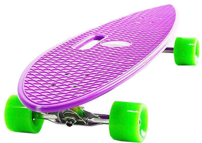 Пенни борд Hubster Cruiser, цвет: фиолетовый, зеленый, дека 36 пенни борд hubster cruiser цвет фиолетовый зеленый дека 36